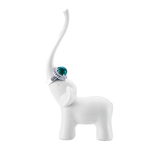ASR Soporte para joyas, diseño de cisne elefante, para llaves, collares, pulseras, joyas para el pelo, anillos y relojes. Soporte para anillos (A)