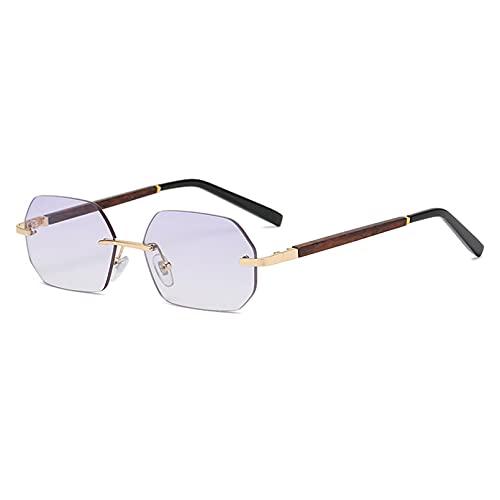 LUOXUEFEI Gafas De Sol Gafas De Sol Octogonales Para Hombre, Azul, Marrón, Polígono, Sin Montura, Anteojos, Accesorios Para Mujer