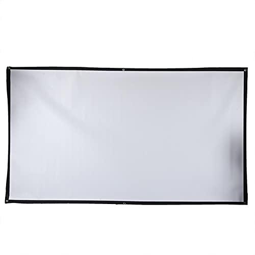 Shipenophy Pantalla de proyector Profesional fácil de Instalar 84 Pulgadas HD de Doble Cara 16: 9 Cómoda para conferencias para Cine en casa en Interiores