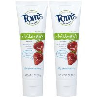 Asub Shop Tom's of Maine Fluoride Free Children's Toothpaste-Silly Strawberry-4.2 oz, 2 pk