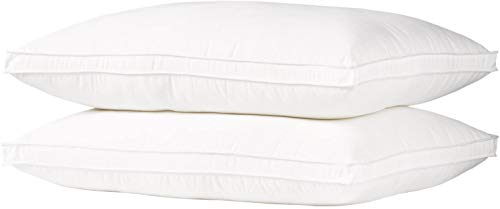 FIRM Ella Jayne Home King Size Bed Pillows- 2 Pack White Hotel Pillows- Gel Fiber Filled FIRM Gel Pillows with Hypoallergenic Gusset Cover- Best Pillow For Side Sleepers & Back Sleepers