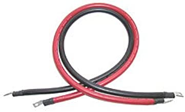 AIMS Power Inverter and Battery Cable 4 AWG 6' Set Copper Cable - Extra Flexible - 3/8 Lug on Both Ends