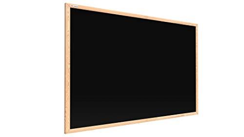 ALLboards Kreidetafel Magnetisch mit Naturholzrahmen 90x60cm, Magnettafel Schwarz, Kreide