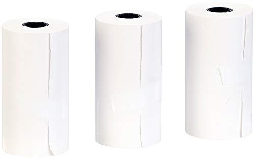 Callstel Druckerzubehöre: 3er-Set Thermorollen, 57 mm Breite, je 8 m Rollenlänge, weiß, BPA-frei (Thermodrucker-Rollen BPA-frei)
