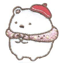 すみっコぐらし ワッペン キャラクター 刺繍 アイロン接着 Sumikko gurashi 正規品 ねこ ぺんぎん? とんかつ しろくま とかげ 入園 入学 アップリケ アイロンワッペン すみっこぐらし ステッカー シール (6・PSU350-PSU106