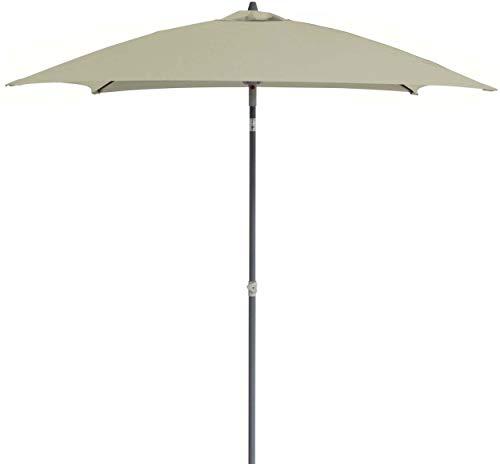 Proloisirs Parasol inclinable Fibre de Verre 2x2m / 4 balaines - Ecru