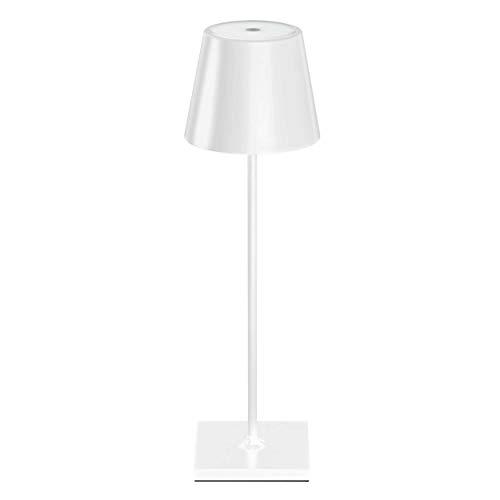 SIGOR Nuindie - Dimmbare LED Akku-Tischlampe Indoor & Outdoor, aufladbar mit Easy-Connect, 24h Leuchtdauer, weiss