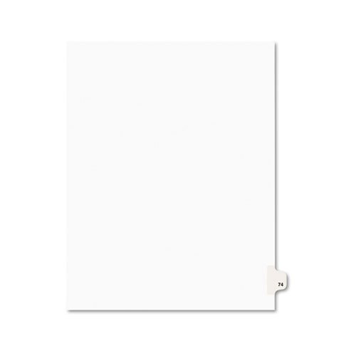 Price comparison product image Avery+Avery-Style+Legal+Side+Tab+Divider%2c+Title%3a+74%2c+Letter%2c+White%2c+25%2fPack