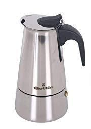 Quttin Cafetera 9 Tazas, Acero INOX, Todo Tipo de Fuego, Incluso inducción