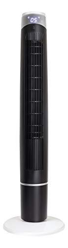 NHC Smart Home - Ventilador de torre inteligente (55 W, 120 cm de alto, 6 niveles de velocidad y 3 modos de ventilación, ventilador con conexión Smart Home, WiFi (Alexa y Google Assistant)