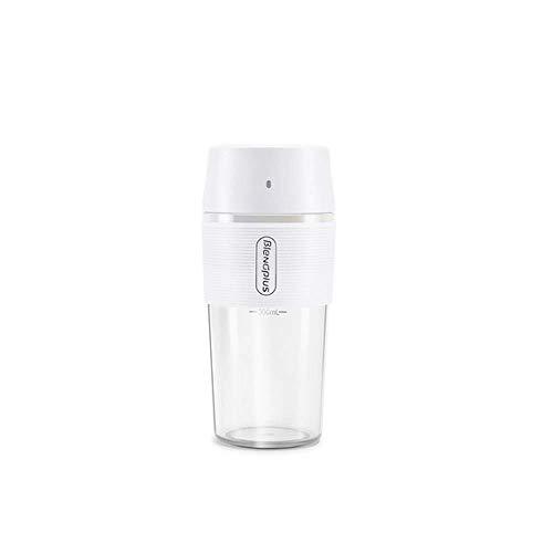 Eléctrica Juicer de la fruta portátil taza de jugo de 300 ml Hervidor Exprimidor con 2 hojas 1200 de mano mAh batería de litio Smoothie jsmhh (Color : White)