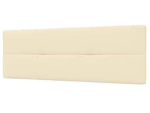 LA WEB DEL COLCHON - Cabecero Tapizado Génova para Cama de 135 (145 x 55 cms) Beige | Cama Juvenil | Cama Matrimonio | Cabezal Cama | Cabeceros tapizados Dormitorio