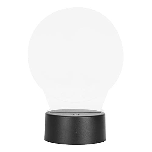 Semiter Decoración con luz LED 3D, Animado Lindo TE Amo CORAZÓN Lámpara de Noche 3D Lámpara de Mesa 3D para Bares para cafés