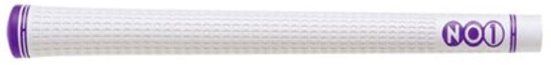 キャプション朝ごはん人工グリップ NO1 NO1グリップ 48シリーズ ホワイト (ホワイト×パープル, バックライン有)