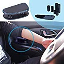ALLUCK Breathable Soft Memory Foam Car Central and Side Adjustable Height Comfort Armrest Rest Pads (Blue)