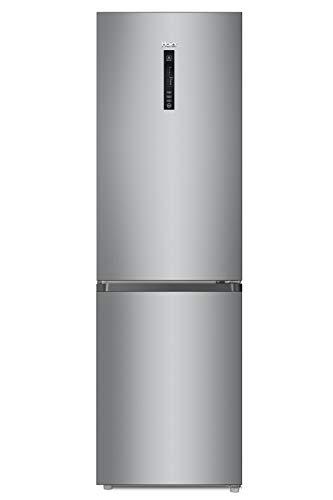 Réfrigérateur combiné inox Haier CFE735CSJ - Frigo congélateur en bas - 341 litres - No Frost total - Réfrigérateur 233 litres/Congélateur 108 litres - Dégivrage automatique -
