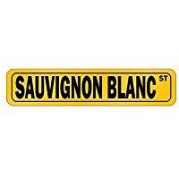 Sauvignon Blanc STREET - Drinks - Street Sign [ Decorative Crossing Sign Wall Plaque ]
