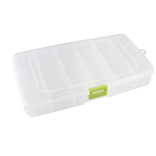X-DREE Organizador de estuche de almacenamiento de componentes electrónicos de plástico blanco claro 6 ranuras (Organisateur de rangement en plastique blanc clair à 6 emplacements pour composants élec