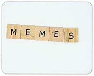 Mousepad muismat muismatten memes scrabble houten letters muismat padcool art computer gift