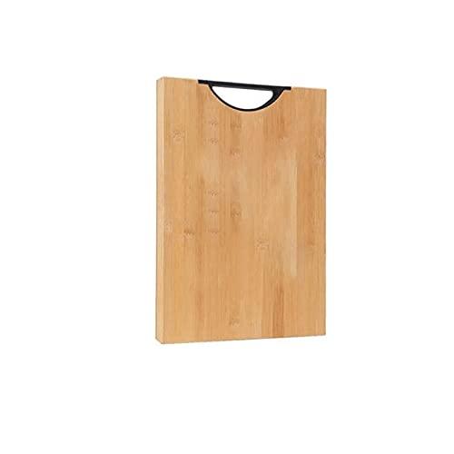 Dabeigouzzhenbb Tabla Cortar Tablero de Adelgazamiento con mango-36 * 25 * 1,8 cm, Tablero de Corte de bambú de bambú para cocinas, Regalos del día de Las Madres