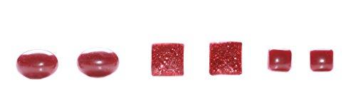 Casual Jeune inspiré Auburn rouge métallique carré/ovale perles Boucles d'oreilles (zx79)