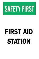 Brady Safety First Aid Station Sign 10