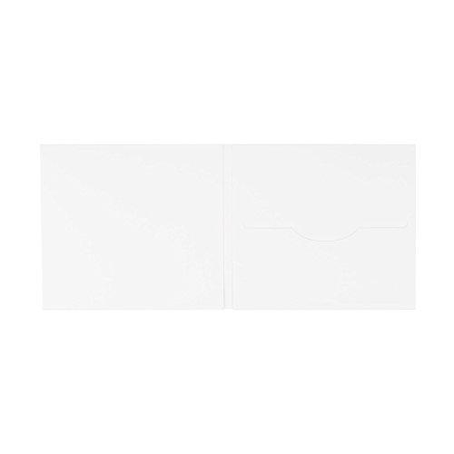 CD Hülle mit 1 Schlitz, Karton 300 g/m², weiß, Digifile, blanko, unbedruckt, matt - 10er Pack