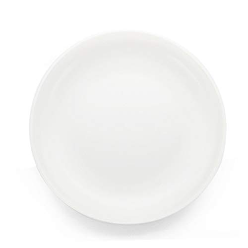 XIUXIU Ménage Européen Simple Couleur Solide Haute Qualité Grand Plat De Riz Plat De Salade Plat En Céramique (Color : Blanc)