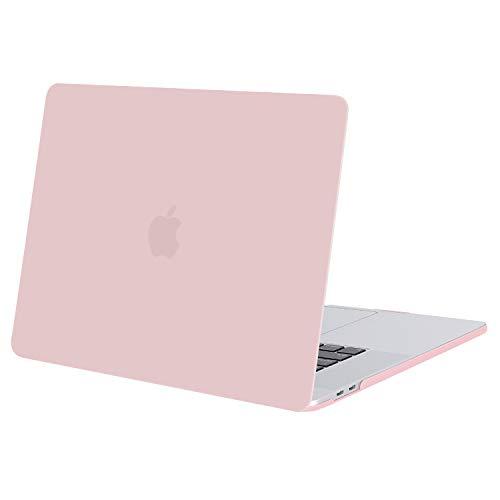 MOSISO Case Compatibile con MacBook PRO 16 Pollici 2020 2019 A2141 con Touch Bar e Touch ID, Ultra Sottile Plastica Custodia Protettiva Rigida, Quarzo Rosa