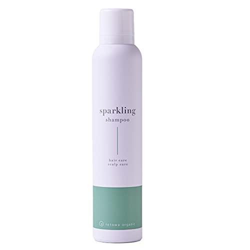 [ オーガニック 成分配合 炭酸シャンプー ] スパークリングシャンプー [ スカルプ 成分 高濃度 炭酸 泡 保湿 美容 ヘアケア サポート ホワイトフローラルの香り ] retowa organic 200g/1本