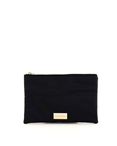 Don algodón Urban, Bolso con correa de mano Mujeres, Negro, 24x16 cm