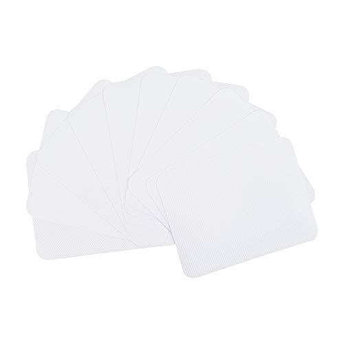 PandaHall 30 hojas de tela para planchar de 12,4 x 9,4 cm con etiqueta blanca de algodón para reparar apliques para coser en parches de tela para sudadera de juan, camiseta suelta, blusas, accesorios