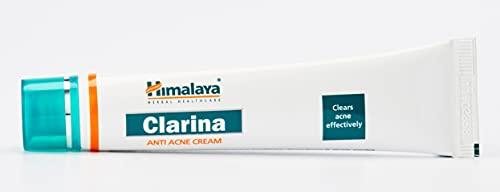 Himalaya Herbals, Clarina crema anti-acne 30g; trattamento per l'acne del viso in gel a base di erbe naturali, rimuove le imperfezioni per una pelle pulita e idratata, ottima per adolescenti e adulti