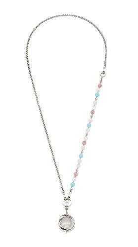 JEWELS BY LEONARDO DARLIN'S Damen-Set-Halskette Marcella, Edelstahl mit verschiedenen Perlen, CLIP & MIX System, Länge 640 mm, 016940