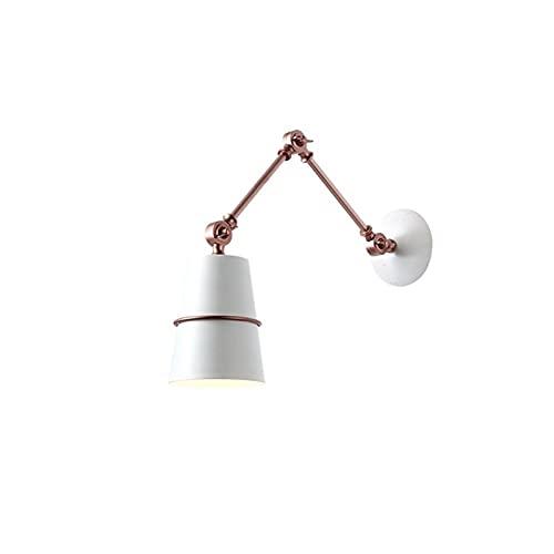 Zziyj Lámpara De Estilo Americano Sconce Light Light Home Abrazaderas Al Aire Libre Industria De Iluminación Fácil De Limpiar Impermeable Ángulo Ajustable Barn Garden Cottage Habitación For Niños 1 PA