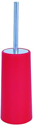 MSV 140943 Brosse WC/Support Polypropylène/Acier Inoxydable Rouge 185C 0,1 x 36 x 0,1 cm