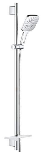 GROHE Rainshower 130 SmartActive Cube 26587000 - Juego de barras de ducha (3 tipos de chorro)