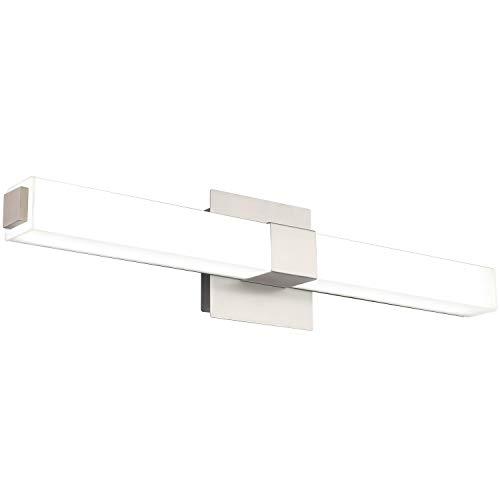 ZUZITO LED Vanity Light 24.2' Frosted White Acrylic Brushed Nickel for Bathroom Vanity Lighting...