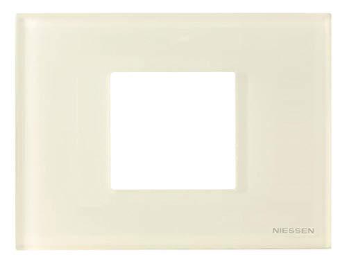 Niessen zenit - Marco 2 módulos zenit caja americana cristal blanco