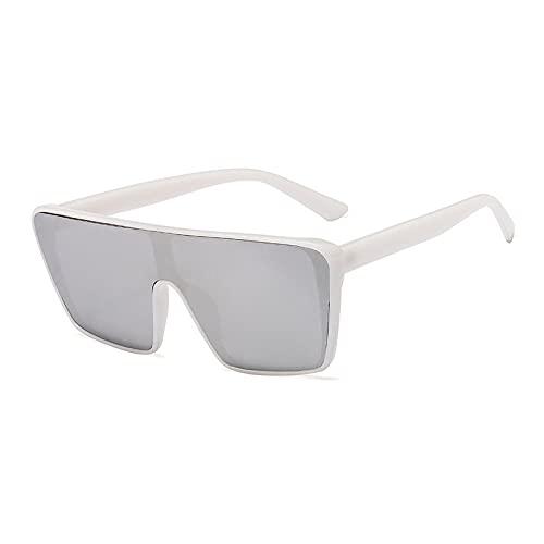 HAOMAO Gafas de sol polarizadas cuadradas con gradiente de espejo de gran tamaño para mujeres y hombres Gafas de sol fotocromáticas únicas Uv400 7
