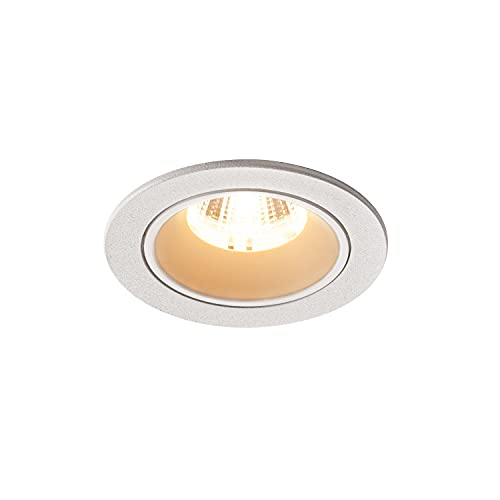 SLV NUMINOS® DL S - Foco LED empotrable para techo (IP20/IP44, 2700 K, 8,6 W, 720 lm, 20 grados), color blanco