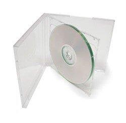 mediaxpo Brand 25 Standard Clear Double CD Jewel Case