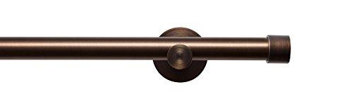 Tilldekor Gardinenstange HIGH-LINE ANDRAX, braun-antik, Ø 20 mm,1-Lauf, 160 cm, inkl. Trägern und Endstücken