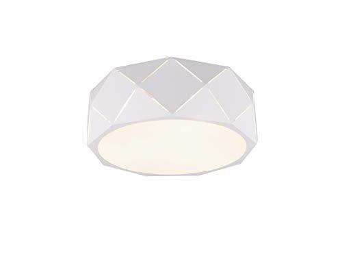 Geometrische led-plafondlamp met lasergesneden metalen kap wit mat 40cm