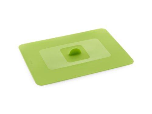 Lékué Couvercle Hermétique Rectangulaire Silicone Platine 35 x 25 cm Vert Tools