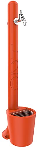 Arkema Design - ARKEMA GH115 20 2009 Arancione Fontanella Tulip con cestello Incluso