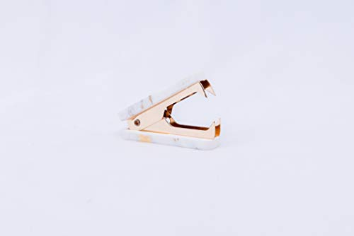 Office Aggreko Staple Remover Tool Golden Metal Jaw Stationery Marble Texture Staple Remover (Gold)