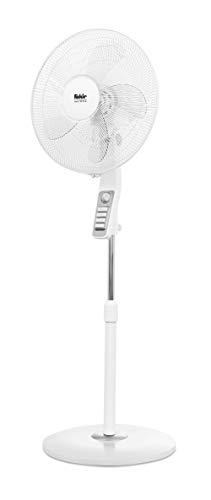 Fakir VC 35 S Trend - Höhenverstellbarer leiser Standventilator mit stabilem Sockel, 3 Leistungsstufen, benutzerfreundlichem Bedienungsfeld, starkem Luftstrom, 90 °Oszillation & Timer I 60 Watt