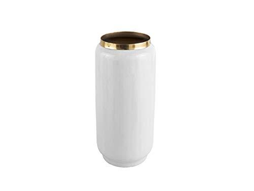 PT Living PT3364WH Vasen, Eisen/Emaille, Weiß, Durchmesser 15 cm