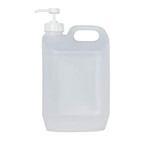 Tanica in plastica da 5 litri trasparente con dosatore da 3 ml. 1 flacone + 1 dosatore.